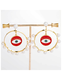 Fashion Gold Eye Earrings