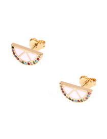 Fashion White Diamond-studded Fruit Earrings