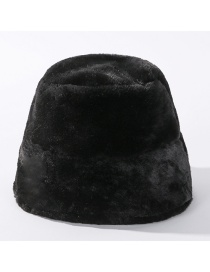 Fashion Black Leopard Fur Light Board Fisherman Hat