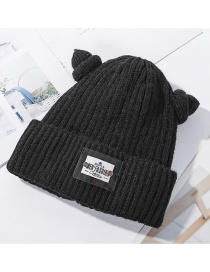 Fashion Black Plus Velvet Wool Cap