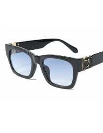 Fashion Black Frame Double Blue Sunglasses