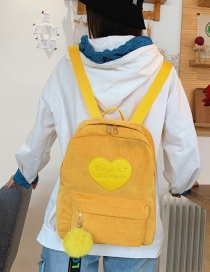 Fashion Yellow Corduroy Backpack