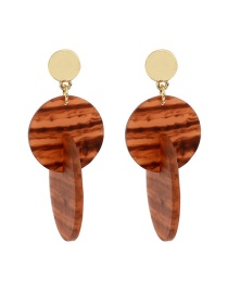 Fashion Brown Geometric Resin Acetate Earrings