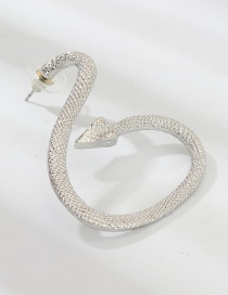 Fashion Silver Serpentine Earrings