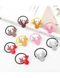 Fashion Color Resin Printed Antler Children's Hair Rope