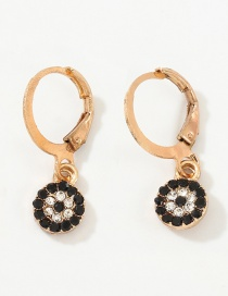 Fashion Round Eye Fringed Eye Stud Earrings