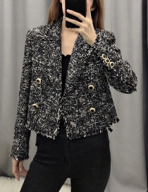 Fashion Black Short Double-breasted Suit