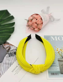 Fashion Yellow Fabric Pleated Slip Headband