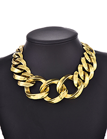Fashion Gold Alloy Chain Necklace