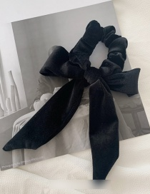Fashion Black Velvet Bow Hairline
