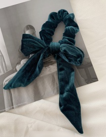 Fashion Dark Green Velvet Bow Hairline