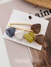 Fashion Coffee Color Contrast Ink Ink Hairpin Combination
