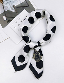 Fashion Black Butterfly Dot Small Square