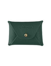 Fashion Green Leather Letter Coin Purse