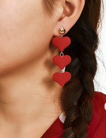 Fashion Red Love Velvet Earrings