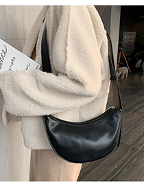 Fashion Black Semi-circular Shoulder Messenger Bag