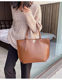 Fashion Brown Belt Buckle Shoulder Bag