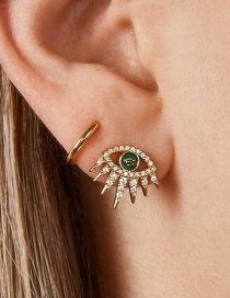 Fashion Gold Crystal Eye Gold Plated Earrings