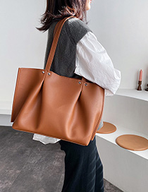 Fashion Yellow Brown Hand Shoulder Bag