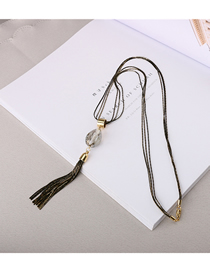 Fashion Black Drop-shaped Necklace