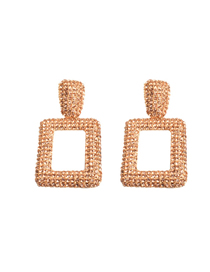 Fashion Gold Geometric Metal Hollow Earrings