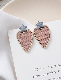Fashion Love 925 Silver Needle Irregular Heart-shaped Woven Texture Earrings