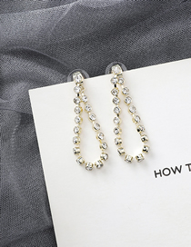 Fashion Gold Crystal Rhinestone Chain Earrings