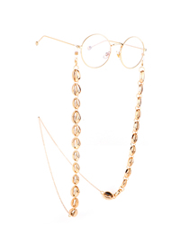 Gold Metal Small Conch Anti-skid Glasses Chain
