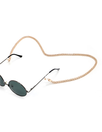 Gold Metal Eye Anti-slip Glasses Chain Lengthened And Thickened 6.0mm