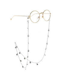 Silver Chain Shell Glasses Chain
