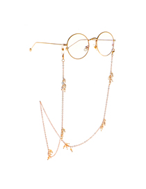 Gold Chain Freshwater Deformed Pearl Glasses Chain