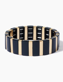 Blue Long Strip Alloy Paint Bracelet