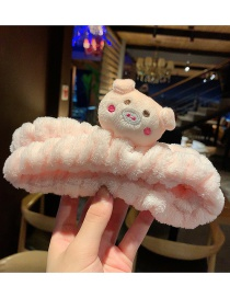 Korean Pink Cartoon Bear Plush Cartoon Hair Band  Cloth