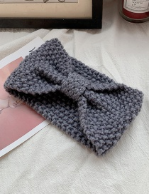 Gray Knitted Hair Band  Knitting