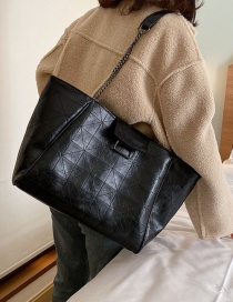 Fashion Black Chain Soft Leather Shoulder Bag