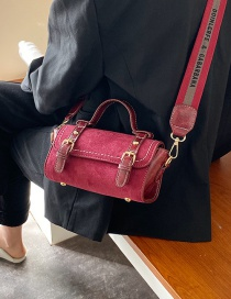 Fashion Red Wide Shoulder Strap Shoulder Messenger Bag