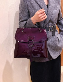 Fashion Purple Soft Leather Shoulder Bag