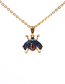 Fashion Golden Micro Studded Bee Necklace