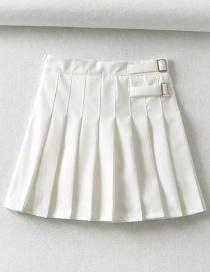 Fashion White Pleated Skirt