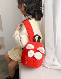 Fashion Red Cartoon Plush Children's Backpack With Bow