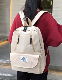 Fashion White Oxford Label Backpack