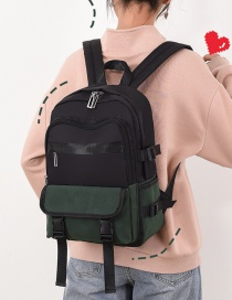 Fashion Green Contrast Stitching Backpack