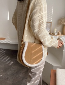 Fashion Khaki Furry Frosted Cross-body Bag