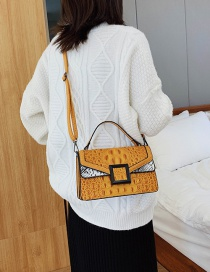 Fashion Yellow Contrast Shoulder Crossbody Bag