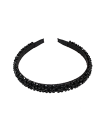 Fashion Black Resin Bead Headband