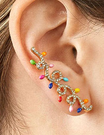 Fashion Color Alloy Color Ear Clip