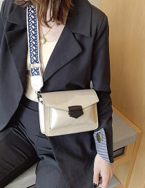 Fashion White Locked Wide Shoulder Bag Crossbody Shoulder Bag