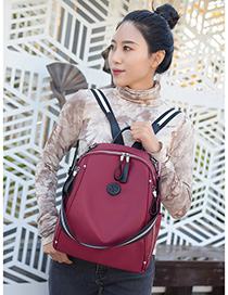 Fashion Red Oxford Embossed Backpack