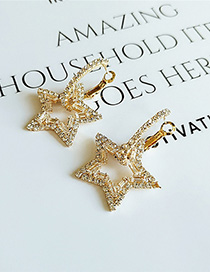 Fashion White Star Diamond Earrings