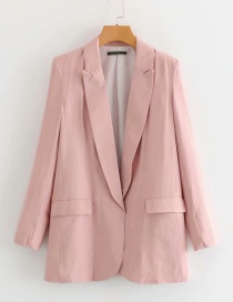 Fashion Pink Big V-neck Small Suit